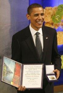 Obama con el Premio Nobel de la Paz